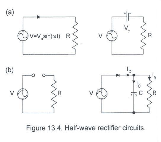 Part I - Half-wave rectifier s Half Wave Rectifiers Wiring Diagrams on