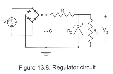 as a final circuit, consider the zener-regulated circuit shown in fig  13 8